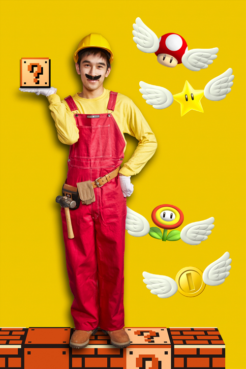 Alex Tan as Mario Maker provided courtesy of GWR